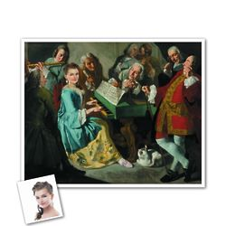 Classic Painting Music Lesson Personalized Art Print