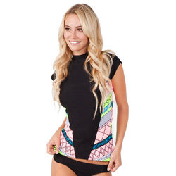 Women's Bali Dancer Cap Sleeve Rashguard