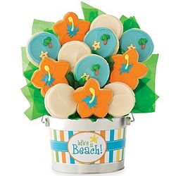 Life's a Beach Cookie Flower Pot