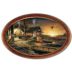Terry Redlin Sunrise Retreat Personalized Framed Collector Plate