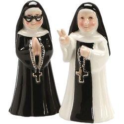 Ceramic Nuns Salt & Pepper Set