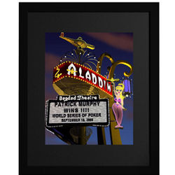 Personalized Alladin Hotel Framed Print