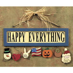 'Happy Everything' Wall Sign