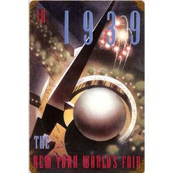 1939 World's Fair Metal Sign