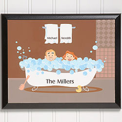 Personalized Bathtub Characters Wall Plaque