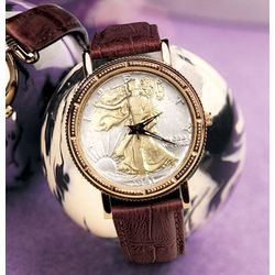 Walking Liberty Coin Wrist Men's Watch