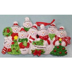 Snowman Family Christmas Tree Ornament