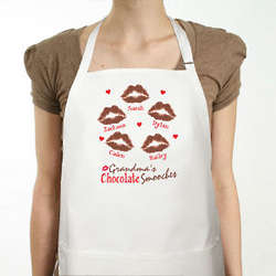 Personalized Chocolate Smooches Apron