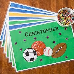 Boy's Personalized Mealtime Placemat