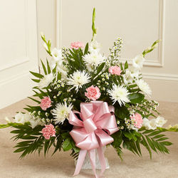 Heartfelt Tribute Funeral Flowers Floor Basket