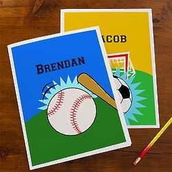 Boy's Personalized Sports School Folders