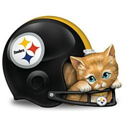 Pittsburgh Steelers Fur-Ever a Fan Cat Figurine