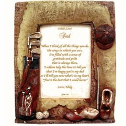 Father's Personalized Golf Poetry Frame
