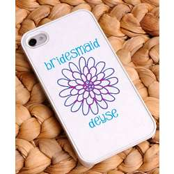 Personalized Delicate Daisy Bridesmaid iPhone Case