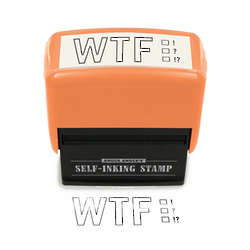 WTF Funny Office Stamp