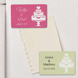 Wedding Cake Magnet Personalized Wedding Favor