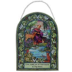 St. Francis Stained Glass Suncatcher