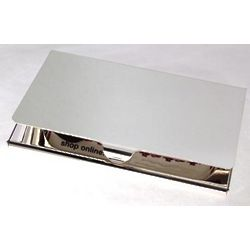 Engraved Classic Silver-Plated Business Card Case