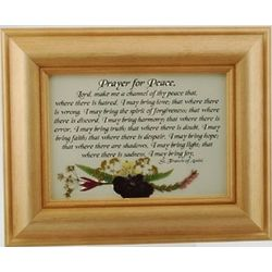 St. Francis Prayer for Peace Framed Print
