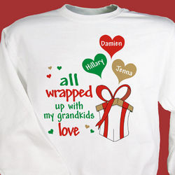 Personalized All Wrapped Up Christmas Sweatshirt