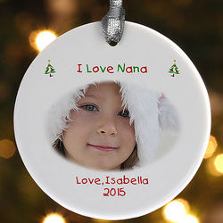 Personalized With Love Design Photo Christmas Ornament