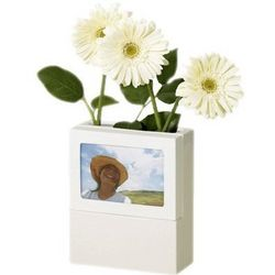 Fotoflora White Picture Frame and Vase
