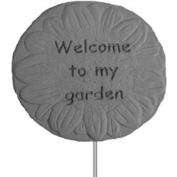 Welcome Garden Flower Stake