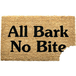 All Bark No Bite Doormat