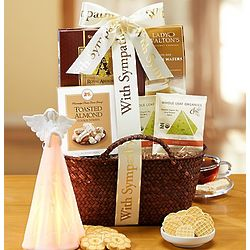 Moments of Reflection Sweets Basket with Angel Light