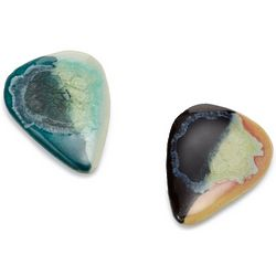 Glass Glazed Stoneware Guitar Pick