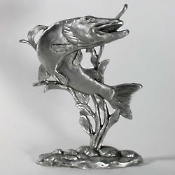 Pewter Musky Fish Shelf Accent