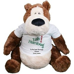Personalized Bah Humbug Christmas Teddy Bear
