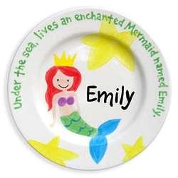 "Personalized Mermaid 8.5"" Plate"