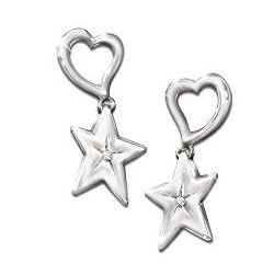 My Granddaughter, My Shining Star Diamond Earrings