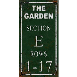 Boston Garden Section E Sign