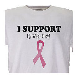 I Support - Breast Cancer Awareness Personalized T-Shirt