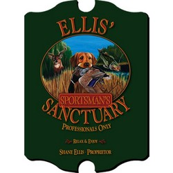 Vintage Personalized Pub Sign with Sportsman Image