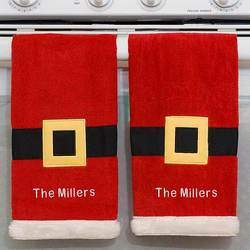 Santa Personalized Christmas Kitchen Towel Set