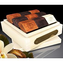 Sunrise Natural Basswood Box of French Chocolates