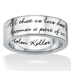 Stainless Steel Inspirational Helen Keller Message Band