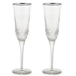 Silver Rim Crystal Flutes