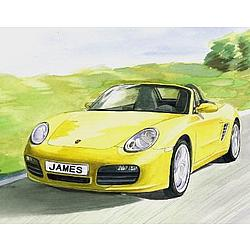Personalized Porsche Watercolor