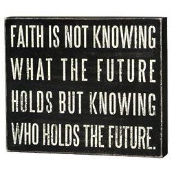 """""""Faith Is"""" Box Sign"""