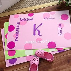 That's My Name Girl's Personalized Room Mat