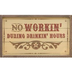 Wood Drinkin' Hours Wall Sign