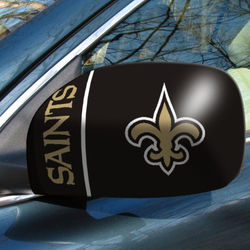 New Orleans Saints Car Mirror Cover Set