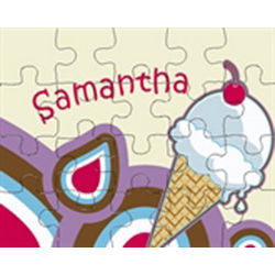 Ice Cream, You Scream for Ice Cream Personalized Puzzle