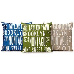 No Place Like Home Custom Family Pillow