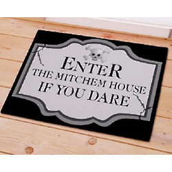 Personalized Halloween Enter if You Dare Doormat