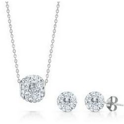 Crystal Earrings and Pendant Boxed Set